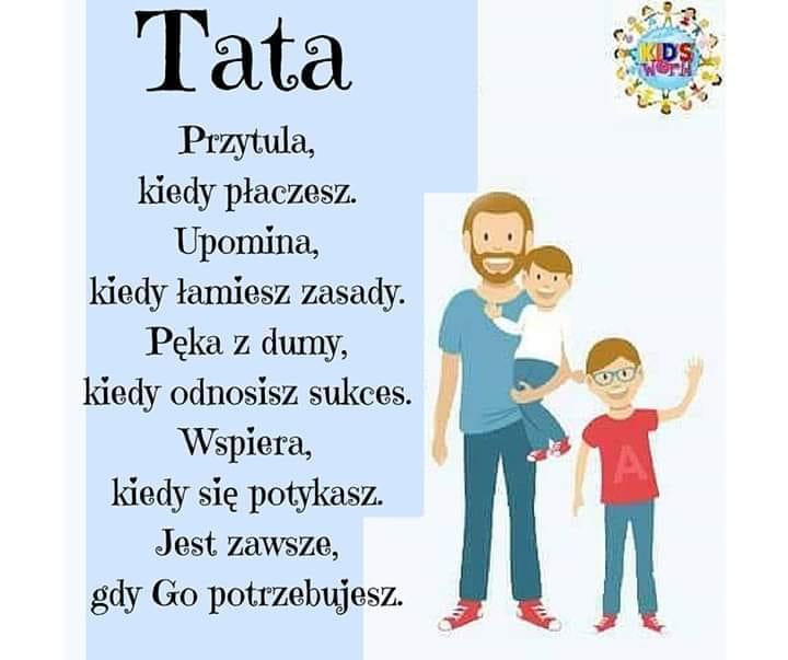 ŻYCZENIA DLA TATY - Przedszkole Publiczne nr 10 im. Kubusia Puchatka w Skarżysku - Kamiennej